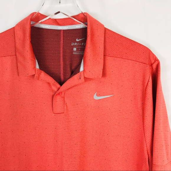 Nike Other - Nike Golf Coral Short Sleeve Polo L